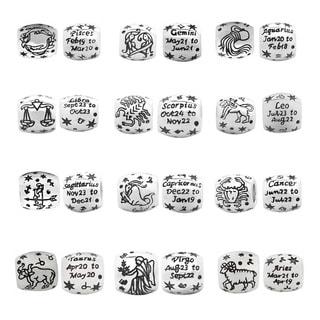 De Buman Sterling Silver Zodiac Sign Constellation Charm Bead