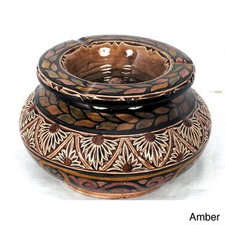 Engraved Ceramic Large Ashtray (Morocco)