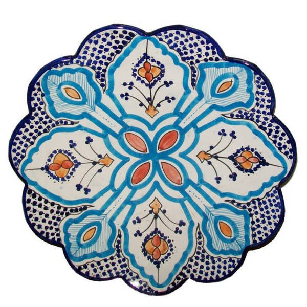 Moroocan Bellflower Ceramic Plate Large (Morocco)