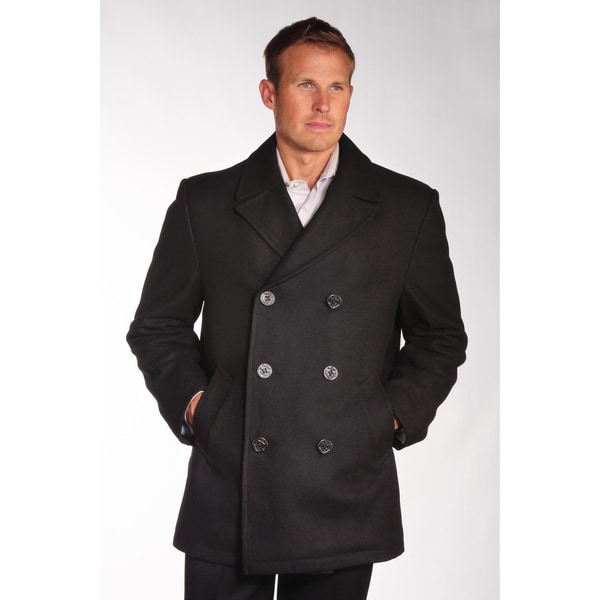 Jean-Paul Germain Men's Wool Blend Pea Coat
