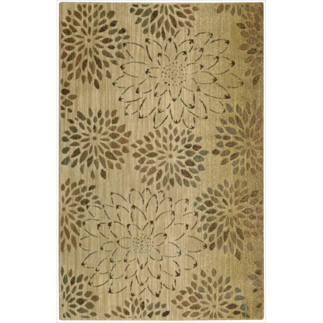Nourison Liz Claiborne Radiant Impression Scatter Bloom Beige Rug (9'6 x 13'6)
