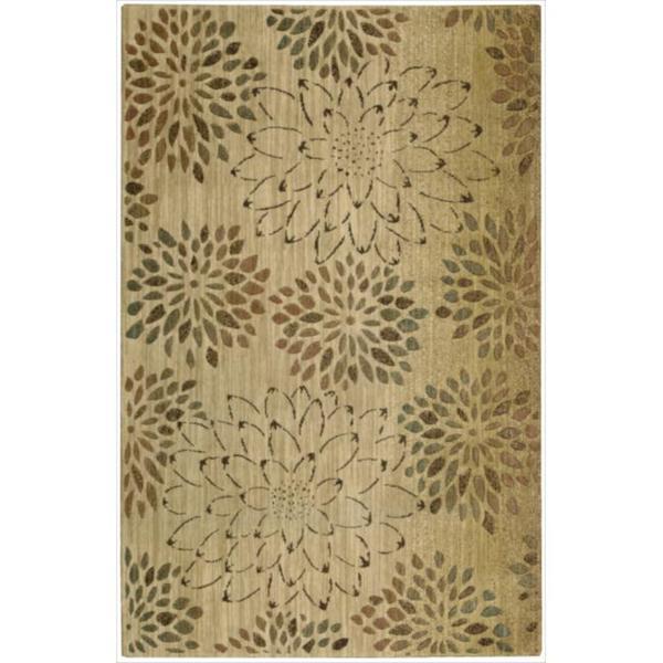 Nourison Liz Claiborne Radiant Impression Scatter Bloom Beige Rug - 9'6 x 13'6