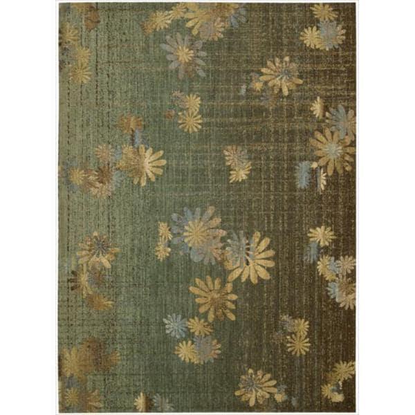 Nourison Liz Claiborne Radiant Impression Transitional Floral Green Rug (9'6 x 13'6)