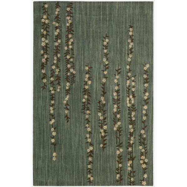 Nourison Liz Claiborne Radiant Impression Delicate Floral Green Rug - 9'6 x 13'6