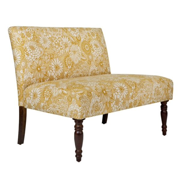 Handy Living Bradstreet Vintage Sun-washed Floral Tan Armless Settee
