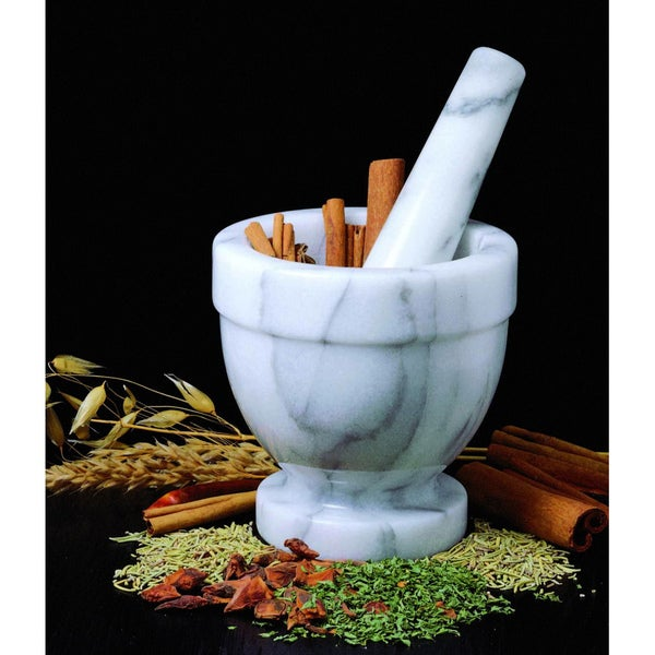 Small Marble Mortar and Pestle Set