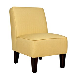Handy Living Dover Washed Buttercream Yellow Chair