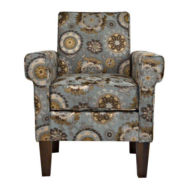 Handy Living Ennis Vintage Tapestry Blue Chair