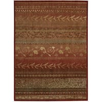 Nourison Liz Claiborne Radiant Impression Assorted Pattern Crimson Red Rug - 9'6 x 13'6