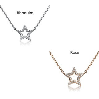 Collette Z Sterling Silver Cubic Zirconia Star Shape Necklace