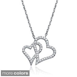 Collette Z Sterling-Silver Cubic Zirconia Heart Pendant Necklace