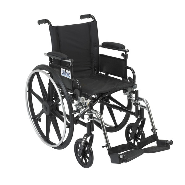 Viper Wheelchair with Flip-back Desk Arms and Composite Footplates