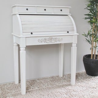 International Caravan Antique White 3-drawer Desk