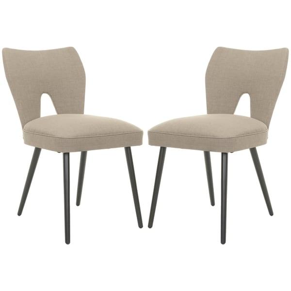 Safavieh Mid-Century Dining Olive Velvet Blend Side Chairs (Set of 2)
