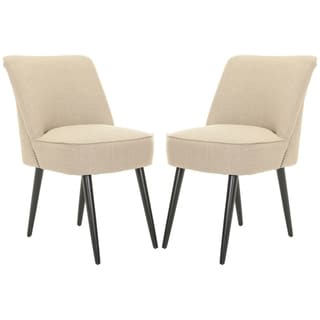 Safavieh Metropolitan Dining Retro Nail head Beige Side Chairs (Set of 2)