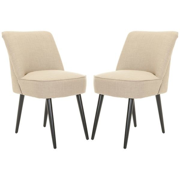 Safavieh Mid-Century Dining Beige Dining Chairs (Set of 2)