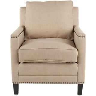 Safavieh Nail-head Straw Cotton Club Chair