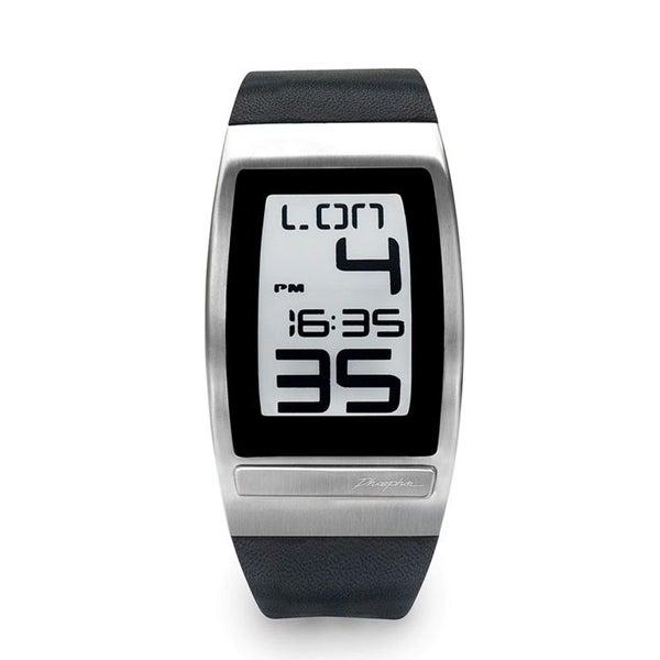 Phosphor Men's World Time Curved Digital Watch