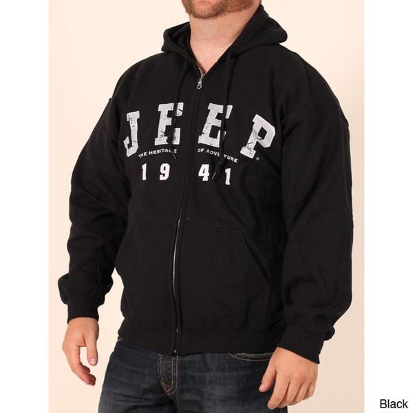 Jeep Men's Logo Zip-front Hooded Sweatshirt
