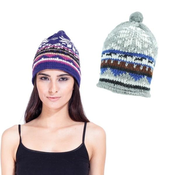 Handmade Snowy Winter Paradise Hat (Nepal)