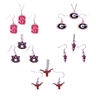 Aminco NCAA Necklace and Dangle Earring Charm Set (3 options available)