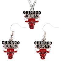Aminco NBA Necklace and Dangle Earring Charm Set