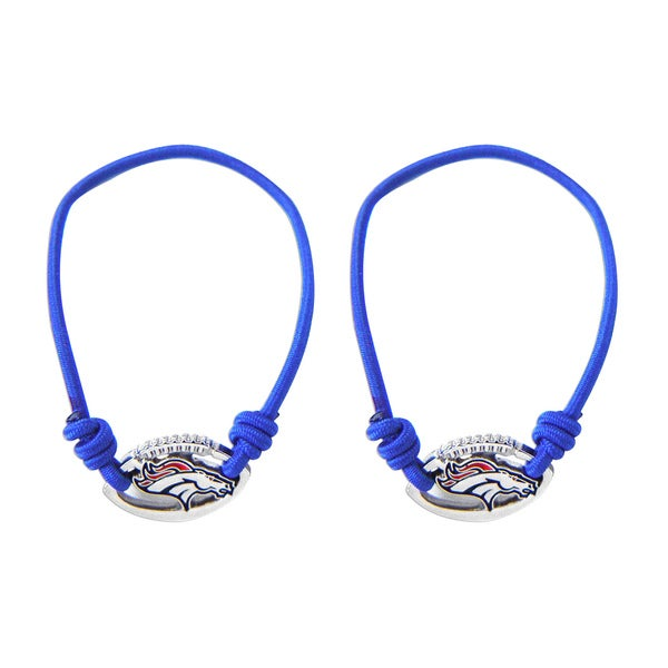 Denver Broncos Stretch Bracelets/ Hair Ties (Set Of 2)