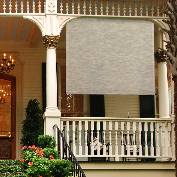 Shop Keystone Fabrics Energy Saving Motorized Outdoor Solar Shade 120 In W X 96 In L Free