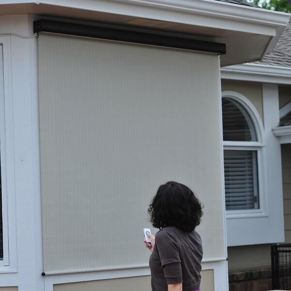 Keystone Fabrics Energy Saving Motorized Outdoor Solar Shade ...