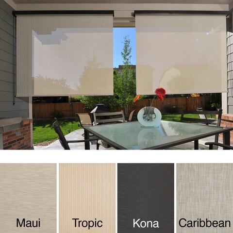 Keystone Fabrics Energy Saving Cord Operated Outdoor Solar Shade - 120 in w x 96 in l