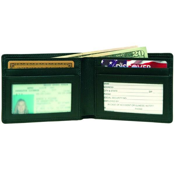 Royce Leather Men's Flat Fold Wallet