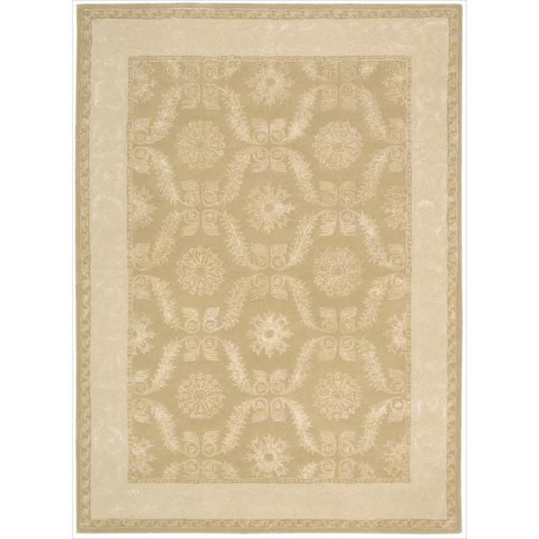 Nourison Hand-tufted Symphony Bordered Gold Rug (9'6 x 13)