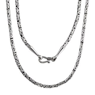 Handmade Bali Sterling Silver Borobudur 'Symbolic' Necklace (Indonesia)