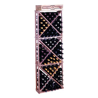 Traditional Redwood Open Diamond Cube Wine Rack