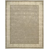Nourison Hand-tufted Symphony Bordered Warm Taupe Rug - 9'6 x 13