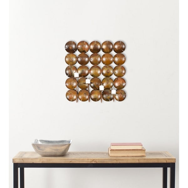 Safavieh Lighting Coco-Shells Square Candle Holder Wall Sconce - 0. Opens flyout.