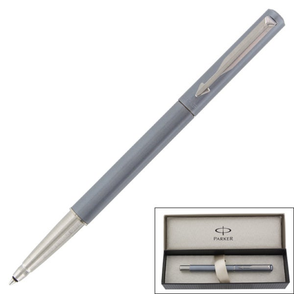 Parker Vector Silver Grey CT Signature Capped Ballpoint Point
