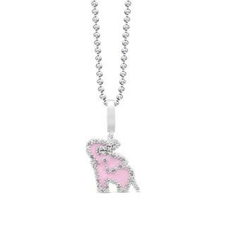 Victoria Kay Sterling Silver Diamond Enamel Elephant Necklace