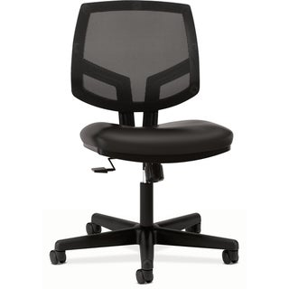 HON Volt Black Leather Mesh Task Chair with Synchro Tilt