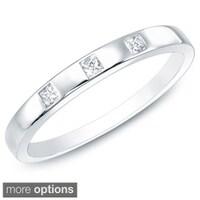 T W Diamond Alternating Vintage Style Eternity Wedding Band In 10k White Gold Source Montebello 1 10ct Tdw Princess Cut