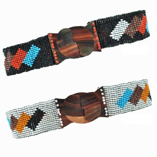 Handmade Block Beaded Belt (Indonesia)