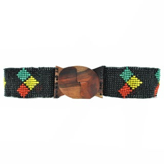 Arrow Rasta Beaded Belt (Indonesia)