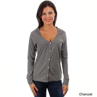 Lyssa Loo Women's Cotton Button-up Cardigan