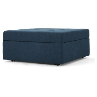 Chatsworth Fabric Storage Ottoman by Christopher Knight Home (Navy)