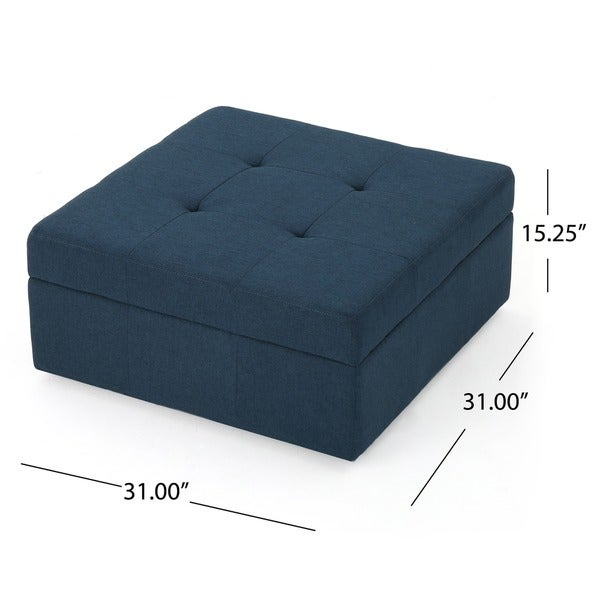 Chatsworth Fabric Storage Ottoman By Christopher Knight Home   Free  Shipping Today   Overstock.com   14766253
