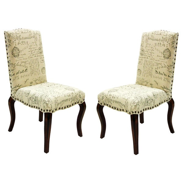French Script Accent Chairs Set of 2 Free Shipping