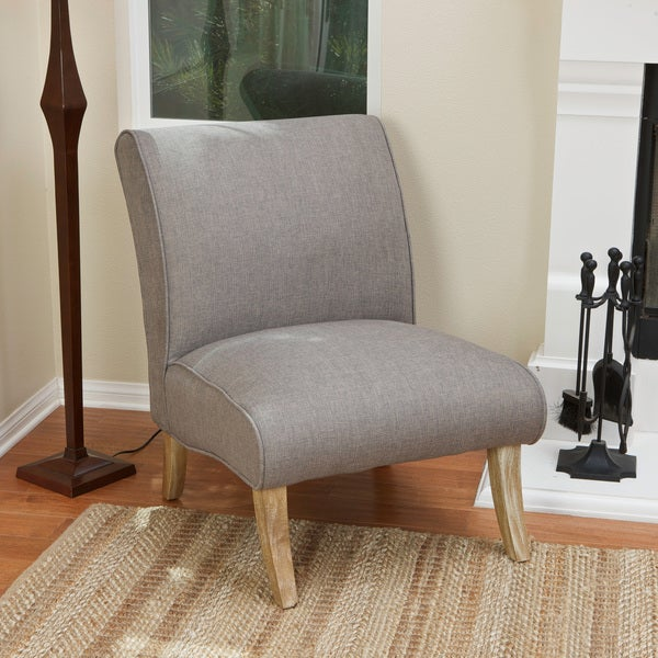 Janet Light Grey Fabric Accent Chair by Christopher Knight Home