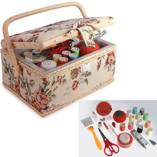 Classic Sewing Basket with Accessories