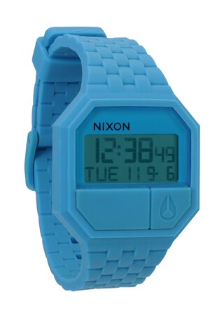 Nixon Men's Sky Blue Rubber Re-Run Watch