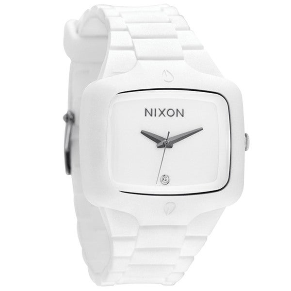 Nixon Men's White Rubber Player Watch